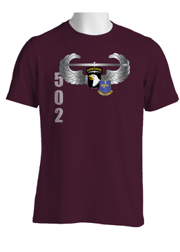 101st w/ 502nd Parachute Infantry Regiment Crest Cotton Shirt