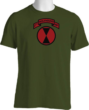 27th Infantry Regiment -Wolfhounds (Full Front & Full Color) Cotton Shirt