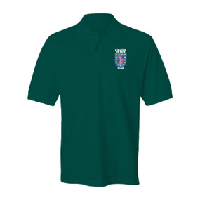 "1-327th ""Crest & Flash"" Embroidered Cotton Polo Shirt"