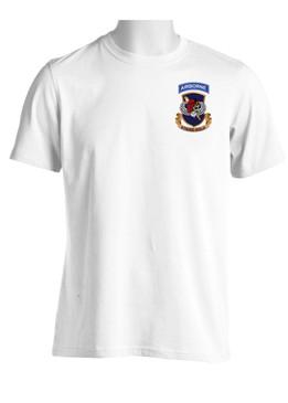 "504th PIR Parachute Infantry Regiment ""Skull & Beret"" (Pocket) Moisture Wick Shirt"