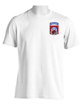 "82nd  Airborne Division ""Skull & Beret""  (Pocket) Moisture Wick Shirt"