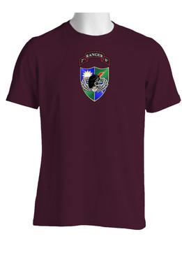 2-75 Ranger Battalion DUI-Black Beret (Chest)  Cotton Shirt