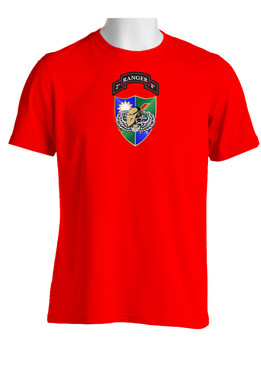 2-75 Ranger Battalion DUI-Tan Beret (Chest)  Cotton Shirt