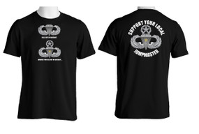 Support Your Local Jumpmaster (Master Wings w/ CJ) Cotton T-Shirt