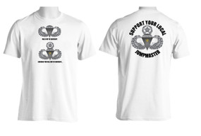 Support Your Local Jumpmaster (Master Wings w/ CJ)  Moisture Wick Shirt