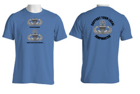 Support Your Local Jumpmaster (Master Wings )  Moisture Wick Shirt