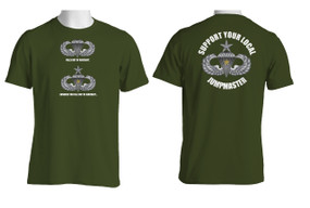 Support Your Local Jumpmaster (Senior Wings w/ CJ ) Cotton T-Shirt