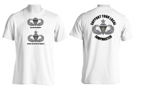 Support Your Local Jumpmaster (Senior Wings w/ CJ )  Moisture Wick Shirt