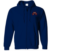 1-75th Ranger Battalion Original Scroll Embroidered Hooded Sweatshirt with Zipper