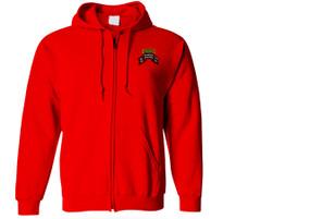 2-75th Ranger Battalion Original Scroll w/ Ranger Tab Embroidered Hooded Sweatshirt with Zipper