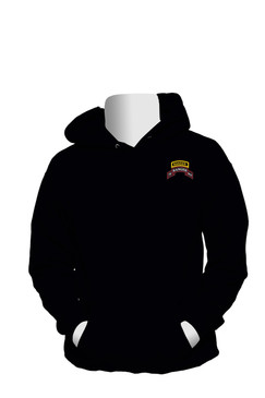 75th Ranger Regiment w/ Ranger Tab Embroidered Hooded Sweatshirt