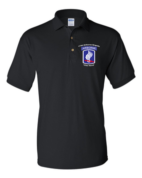 173rd Airborne Brigade  Embroidered Cotton Polo Shirt