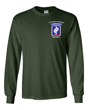 173rd Airborne Brigade Long-Sleeve Cotton Shirt (P)