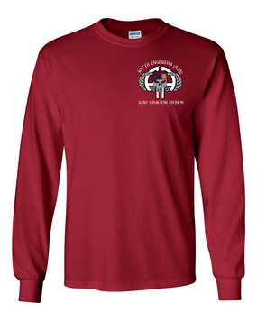 307th Combat Engineer Battalion (Airborne)) Long-Sleeve Cotton Shirt (POCKET)