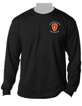 25th Infantry Division Long-Sleeve Cotton Shirt (POCKET)