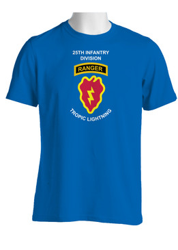 25th Infantry Division w/ Ranger Tab Cotton T-Shirt (FF)