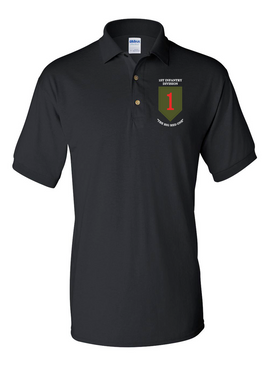 1st Infantry Division Embroidered Cotton Polo Shirt