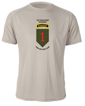 1st Infantry Division w/ Ranger Tab Moisture Wick Shirt  (FF)