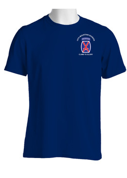 "10th Mountain Division ""Climb to Glory"" Cotton T-Shirt-(P)"