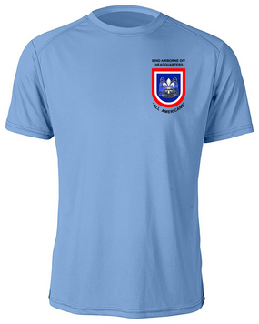 "82nd Hqtrs & Hqtrs Battalion ""Crest & Flash""  Moisture Wick Shirt (P)"