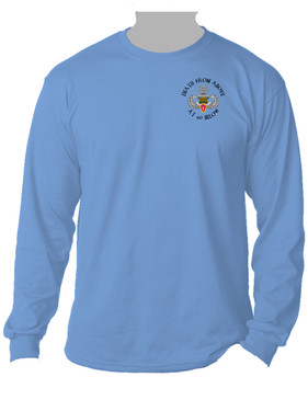 4th Brigade Combat Team (Airborne) w/ Ranger Tab Long-Sleeve Cotton Shirt -(P)