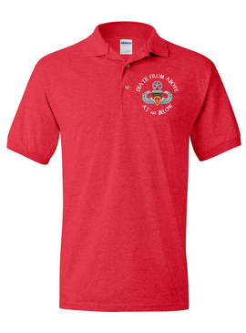 4th Brigade Combat Team (Airborne) Embroidered Cotton Polo Shirt