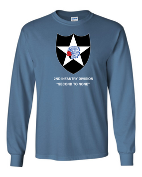 2nd Infantry Division Long-Sleeve Cotton Shirt -(FF)