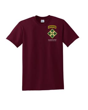 4th Infantry Division w/ Ranger Tab Cotton T-Shirt-(P)