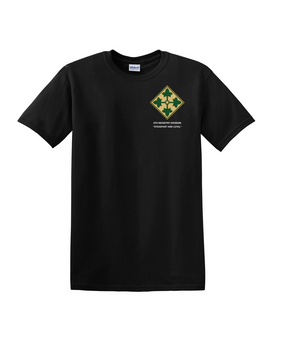 4th Infantry Division Cotton T-Shirt-(P)