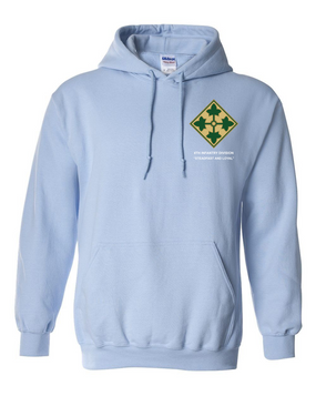 4th Infantry Division Embroidered Hooded Sweatshirt