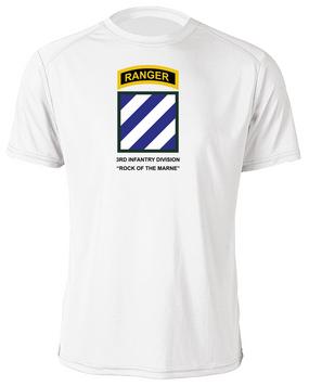 3rd Infantry Division w/ Ranger Tab Moisture Wick Shirt -(Chest)