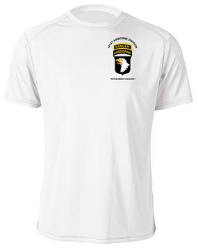 101st Airborne Division w/ Ranger Tab Moisture Wick Shirt -(Pocket)
