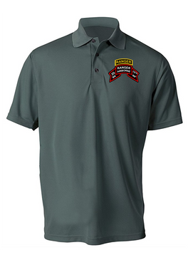 "2-75 Ranger Battalion ""Original Scroll"" w/ Ranger Tab  Embroidered Moisture Wick Shirt (Paragon)"