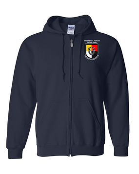 3rd Special Forces Group Embroidered Hooded Sweatshirt with Zipper