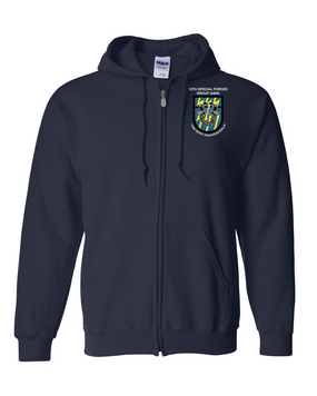 12th Special Forces Group  Embroidered Hooded Sweatshirt with Zipper