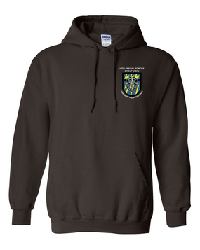 12th Special Forces Group  Embroidered Hooded Sweatshirt