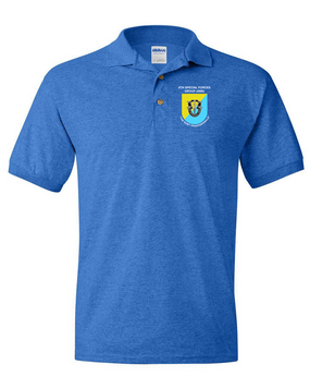 8th Special Forces Group Embroidered Cotton Polo Shirt