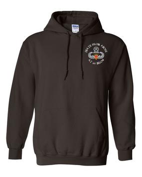 4th Brigade Combat Team (Airborne) Embroidered Hooded Sweatshirt