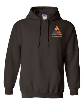 2nd Armored Division Embroidered Hooded Sweatshirt