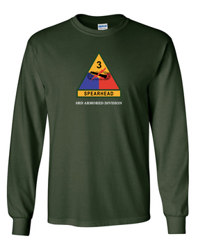 3rd Armored Division (Chest)- Long-Sleeve Cotton Shirt