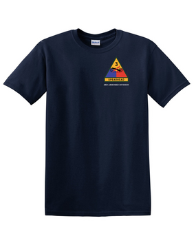 3rd Armored Division  (Pocket) Cotton T-Shirt