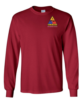 2nd Armored Division (Pocket)- Long-Sleeve Cotton Shirt