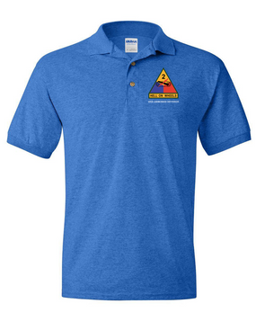 2nd Armored Division Embroidered Cotton Polo Shirt