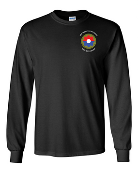 9th Infantry Division Long-Sleeve Cotton Shirt (Pocket)