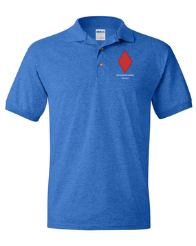 5th Infantry Division Embroidered Cotton Polo Shirt