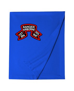 1/75th Ranger Battalion Original Scroll Embroidered Dryblend Stadium Blanket
