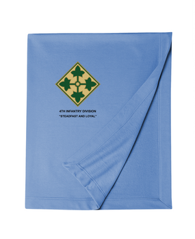 4th Infantry Division Embroidered Dryblend Stadium Blanket