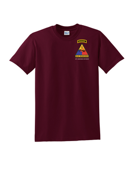 1st Armored Division w/ Ranger Tab Cotton T-Shirt (Pocket)