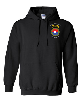 9th Infantry Division w/ Ranger Tab Embroidered Hooded Sweatshirt