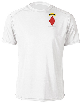 5th Infantry Division w/ Ranger Tab Moisture Wick Shirt -(Pocket)